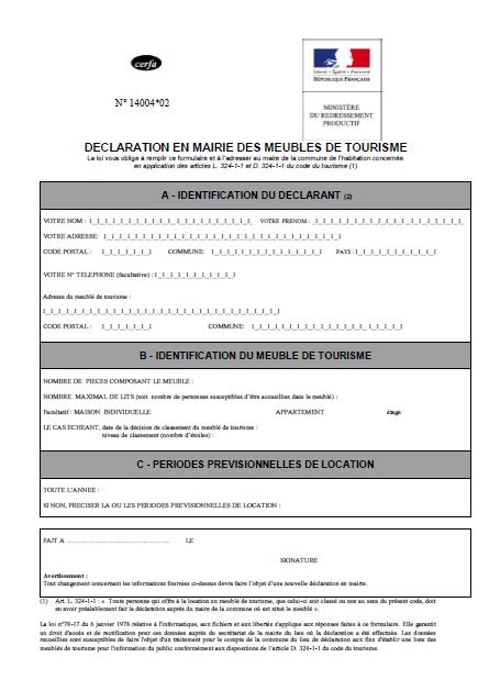 Classement Meubls de Tourisme - Etoiles De France