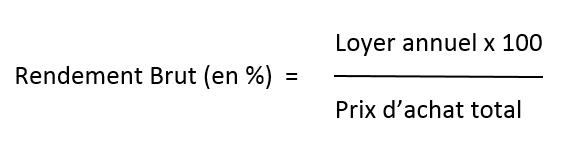 rendement locatif
